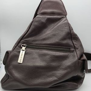 Preston & York Brown Leather Backpack